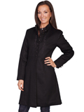 [Wahmaker Ladies Embroidered Wool Coat]