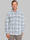 [True Grit� Men's Malibu Plaid Cord Cotton Shirt]