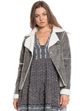 [True Grit Women's Sherpa Single Snap Front Jacket]