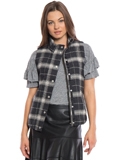 [True Grit Women's Melange Flannel and Frosty Tipped Classic Vest]