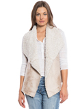 [True Grit Women's Frosty Tipped Shearling Snap Vest]