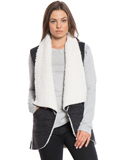 [True Grit Women's Flannel and Sherpa Road Trip Vest]