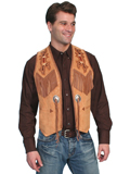 [Mens Scully Men's Boar Suede Handlaced Bead Trim Vest]
