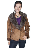 [Honey Creek by Scully Ladies Faux Fur and Suede Jacket]