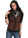 [Scully - Ladies Faux Shearling Sleeveless Vest]