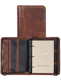 [Scully Antique Calf Leather Zip Weekly Organizer]