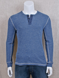 [True Grit� Men's Thermal Cotton Henley]