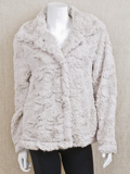 [True Grit Women's Plush Fur Jacket]