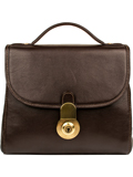 [Scully Handstained Calf Leather Handbag]