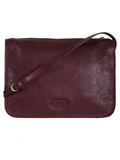 [Scully Handstained Glazed Calf Leather Cross-body Handbag]