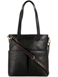 [Scully Handstained Glazed Calf Leather Handbag]