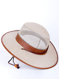 [Dorfman Pacific Men's Canvas Leather Trim Hat]