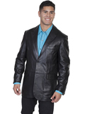 [Mens Scully Men's Lambskin Leather Blazer]