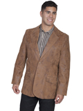 [Scully Men's Frontier Leather Boot Stitch Blazer]