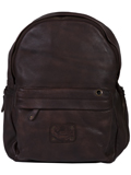 [Scully Solvang Collection Antique Goat Leather Backpack]