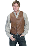 [Mens Scully Men's Frontier Leather Boot Stitch Vest]