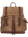 [Scully Cow Suede Top Grain Cow Hide Trim Backpack]