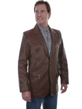 [Mens Scully Lambskin Blazer with Caiman Inlays]