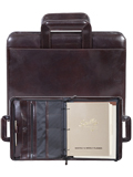 [Scully Italian Leather Zip Binder with Drop Handles]