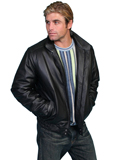 [Mens Scully Men's Classic Top-Grain Leather Jacket]