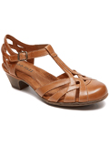 [Cobb Hill by Rockport Women's Aubrey Closed Toe T-Strap Shoe]