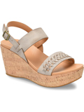 [Kork-Ease Austin Braid Full Grain Leather Wedge Sandal]