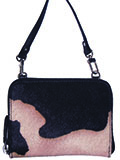 [Scully Club Bag Hair on Calf Leather Handbag]
