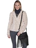 [Scully Leather and Suede Trim Handbag]