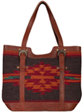[Scully Woven Front and Leather Back Handbag]