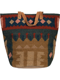 [Scully Woven Large Oval Base Handbag]