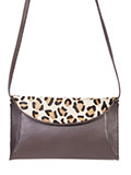 [Scully Leather Handbag with Cheetah Flap]
