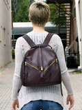 [Victoria Leather Backdrop Backpack]
