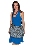 [Cantina by Scully Aztec Print Beaded Bag]