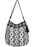 [Cantina by Scully Geometric Aztec Print Handbag]