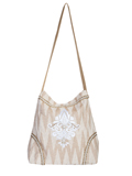 [Cantina by Scully Fleur De Lis Embroidered Zigzag Handbag]