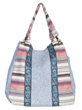 [Cantina by Scully Blue Paneled Front Handbag]