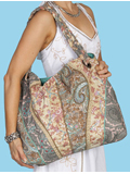 [Cantina by Scully Paisley and Floral Patterned Fabric Handbag]