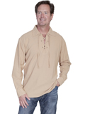 [Cantina by Scully Men's Scully Cantina Lace Up Front Shirt]