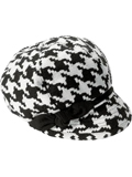 [San Diego Hat Co Ladies Houndstooth Bow Newsboy Cap]