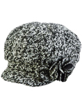 [San Diego Hat Co Women's Boucle Newsboy with Flower]