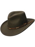 [Dorfman Pacific Men's Wool Felt All Seasons Outback Hat]