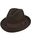 [Dorfman Pacific Men's Felt Fedora with Raw Edge]