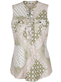 [Aventura Clothing Giselle Lenzing Modal Floral Patchwork Print Lace Up Tank]