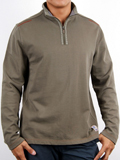 [Zenfari� Men's Go Go French Terry Half Zip Pullover Knit Top]