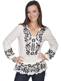 [Honey Creek by Scully Ladies Embroidered Cotton Tunic]