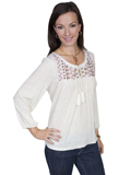 [Honey Creek by Scully Ladies Crush Knit Blouse]