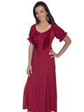 [Honey Creek by Scully Ladies Lace Velvet Inset Dress]