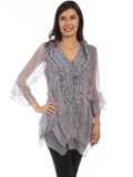 [Honey Creek by Scully Ladies Crochet Lace Top]