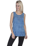 [Honey Creek by Scully Ladies Crochet Embroidered Tank]