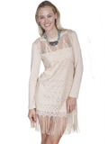[Honey Creek by Scully Ladies Lace Fringe Dress]